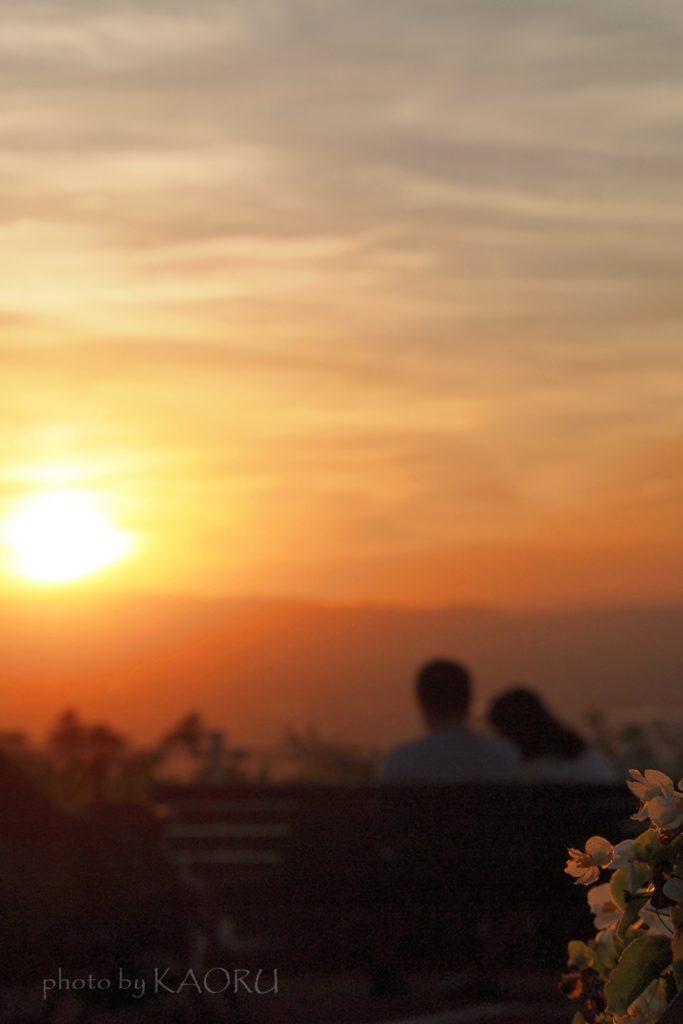夜景 夕景 撮影 生駒山上遊園地